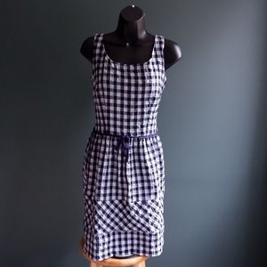Taylor blue and white gingham dress size 12